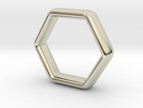 Hexi Wedding Ring US Size 6 (UK Size M) in 14k White Gold