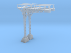 N Scale ATSF Style Cantilever 85p 2xLH w base in Smooth Fine Detail Plastic