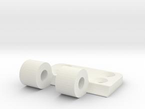 hinge in White Natural Versatile Plastic