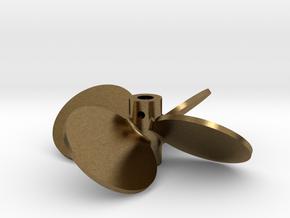"""2.50"""" - BBP 40º LH - 3/16"""" Shaft in Natural Bronze"""