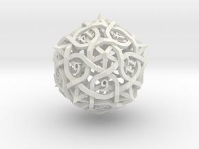 Thorn Die20 in White Premium Versatile Plastic