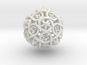 Spindown Thorn Die20 in White Premium Versatile Plastic