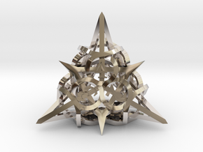 Thorn d4 Ornament in Rhodium Plated Brass