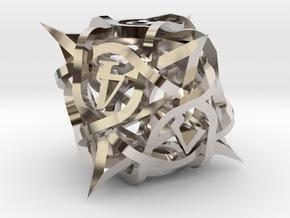 Thorn Die8 Ornament in Platinum