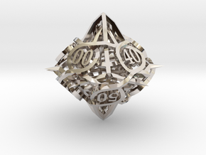 Thorn d10 Decader Ornament in Rhodium Plated Brass