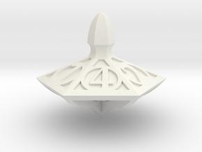 Top Die6 in White Premium Versatile Plastic