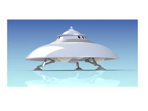 Adamski Modification Saucer Kit Parts in White Natural Versatile Plastic