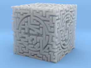 Labyrinthine d6 in Smooth Fine Detail Plastic