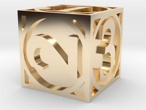 Circle Theme Die6 in 14K Yellow Gold