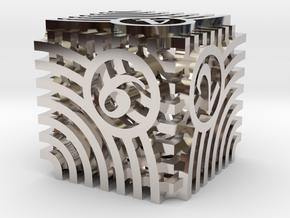 Moiré d6 in Platinum