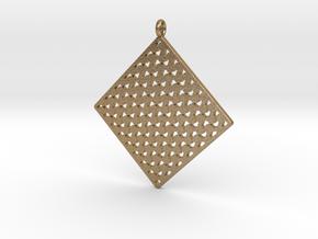 Pattern Pendant 1b in Polished Gold Steel