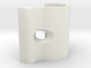 LM8-plate-middle for i3 3d printer clone in White Natural Versatile Plastic
