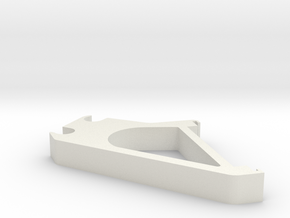 LCD-holder-A for i3 3d printer clone in White Natural Versatile Plastic