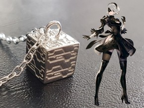 Nier Automata Black Box in Polished Silver