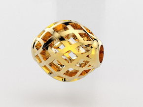 Oval ball pendant in 14K Yellow Gold