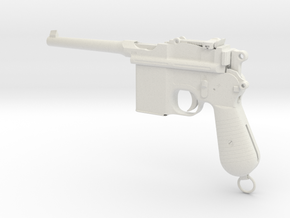 Broomhandle Mauser 1/3rd Scale in White Natural Versatile Plastic