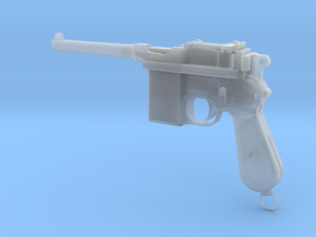 Broomhandle Mauser 1/3rd Scale in Smooth Fine Detail Plastic