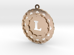 Magic Letter L Pendant in 14k Rose Gold Plated Brass