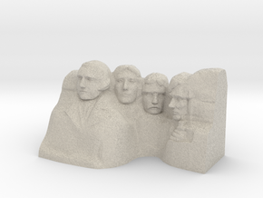 Mount Rushmore Monument in Natural Sandstone