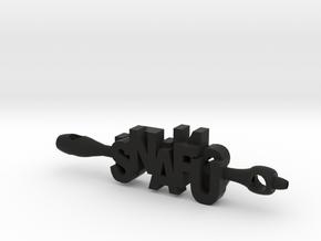 SNAFU situation normal all FU in Black Premium Versatile Plastic