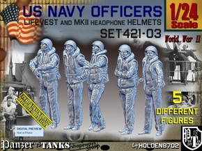 1/24 USN Officers Kapok Set421-03 in White Natural Versatile Plastic