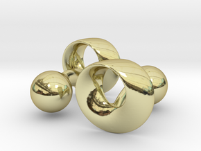 Möbius Cufflinks in 18K Gold Plated