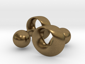 Möbius Cufflinks in Natural Bronze
