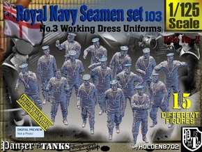1/125 Royal Navy Seamen Set103 in Smooth Fine Detail Plastic