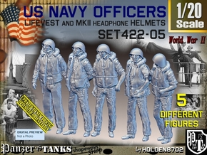 1/20 USN Officers Kapok Set422-05 in White Natural Versatile Plastic
