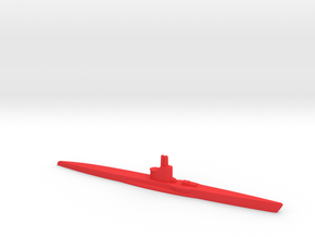 1/1200 VIIC U-boat in Red Processed Versatile Plastic