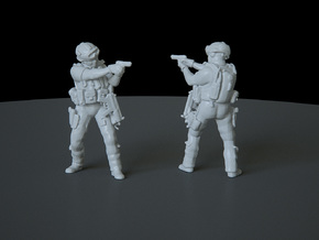 1 HO Modern Soldier (no base) in Smooth Fine Detail Plastic