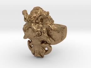Warthog Ring in Natural Brass: 4 / 46.5