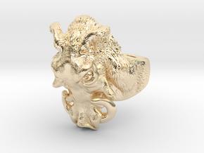 Warthog Ring in 14K Yellow Gold: 4 / 46.5