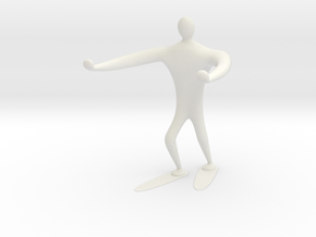 Blind walk statue in White Natural Versatile Plastic: 6mm