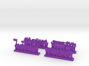 Protestors - Variation B  in Purple Processed Versatile Plastic