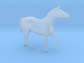 S Scale Walking Draft Horse in Smooth Fine Detail Plastic