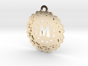 Magic Letter M Pendant in 14K Yellow Gold