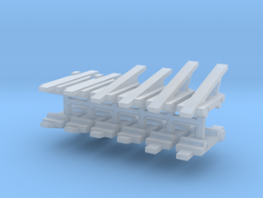 Airport Baggage Belt Loader Set in Smooth Fine Detail Plastic