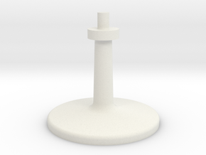 Single Leg Stand for. 1 dia mounting hole in White Natural Versatile Plastic