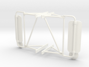 Truck Mirrors, Pair 1/14 Scale in White Processed Versatile Plastic