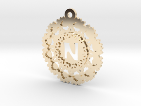 Magic Letter N Pendant in 14K Yellow Gold