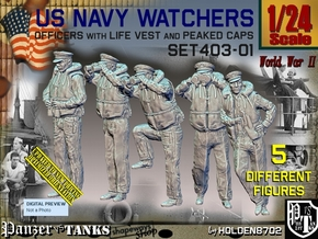 1/24 USN Watchers Set403-01 in White Natural Versatile Plastic