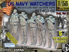 1/56 USN Watchers Set403-02 in Smooth Fine Detail Plastic
