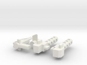 Battletrap's Weapon Set in White Natural Versatile Plastic
