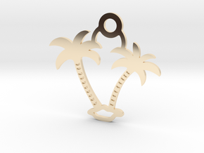 Palm Trees Pendant in 14K Yellow Gold