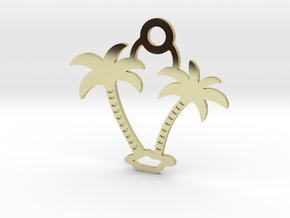 Palm Trees Pendant in 18k Gold Plated Brass