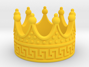 MAGNIFICENT CROWN RING -50% OFF in Yellow Processed Versatile Plastic: 4.5 / 47.75