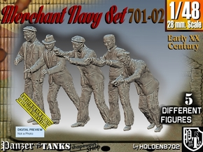1/48 Merchant Navy Set 701-02 in Smooth Fine Detail Plastic