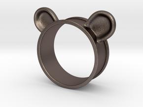 Bear Ears Napkin Holder in Polished Bronzed Silver Steel