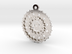 Magic Letter O Pendant in Rhodium Plated Brass